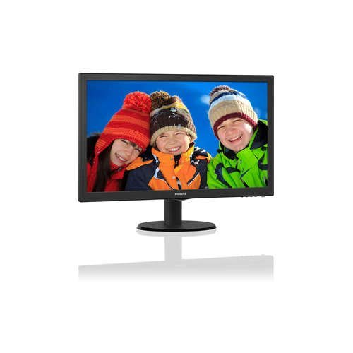 "Монитор Philips 21.5"" 223V5LHSB2, 1920x1080, LED, 5ms, 200cd/m2, VGA, HDMI, Black (снимка 1)"