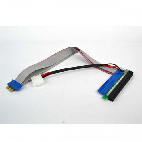 PCI-E 1X to X16 Riser Card Cable 30cm with Molex (снимка 1)