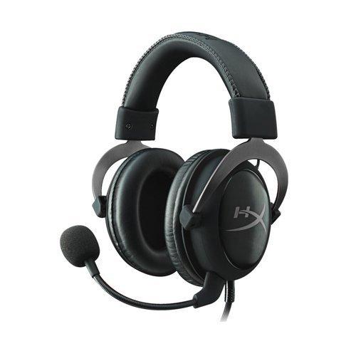 Слушалки Kingston HyperX Cloud II, Pro Gaming Headset (Gun Metal), 1m cable +2m extension, USB audio control box (снимка 1)