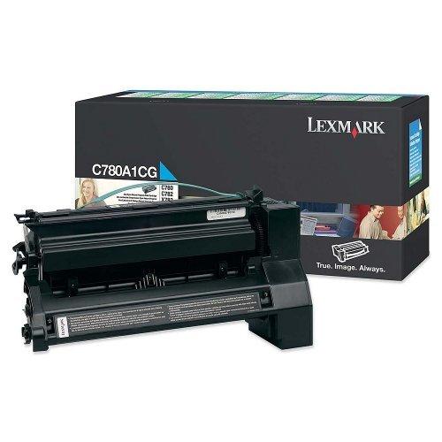 Lexmark C780, C782 Cyan Return Programme Print Cartridge (6K), C780A1CG (снимка 1)