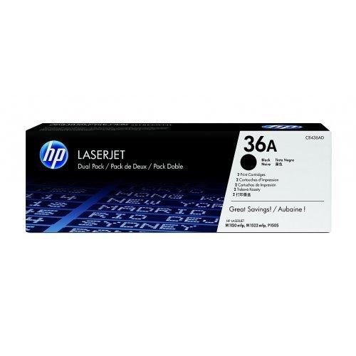 HP 36A Black Dual Pack LaserJet Toner Cartridges, CB436AD (снимка 1)