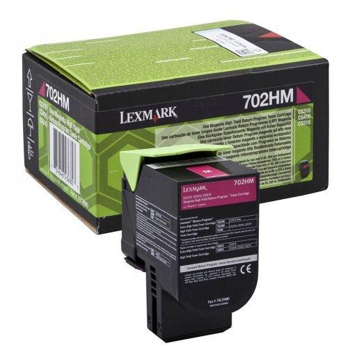 Lexmark 702HM Magenta High Yield Return Program Toner Cartridge, 70C2HM0 (снимка 1)