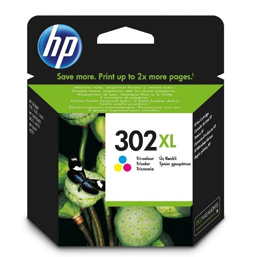 HP 302XL High Yield Tri-color Original Ink Cartridge, F6U67AE (снимка 1)