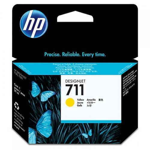 HP 711 29-ml Yellow Ink Cartridge, CZ132A (снимка 1)