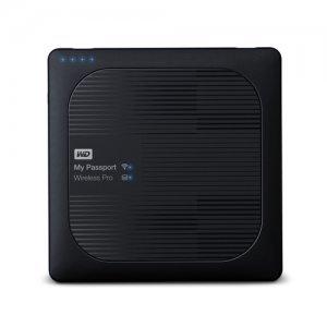 Външен твърд диск Western Digital My Passport Wireless Pro 2TB, 802.11ac Wi-Fi, USB3.0, SD Card Slot, 6400mAh Battery, Black, WDBP2P0020BBK (снимка 1)