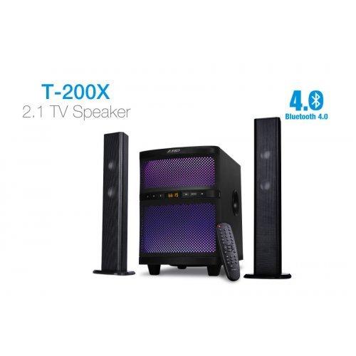 Тонколони за компютър Fenda F&D T-200X, 2.1, 70W RMS, Bluetooth4.0, USB/SD card reader, FM, Remote, Black (снимка 1)