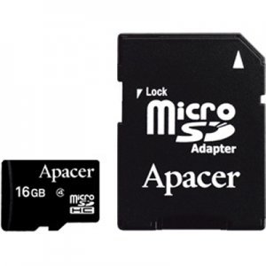 Secure Digital Card Micro 16GB Apacer SDHC Class 4, Adapter, AP16GMCSH4-R (снимка 1)