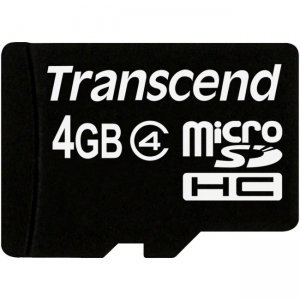 Secure Digital Card Micro 4GB Transcend, SDHC Class 4, 1xAdapter, TS4GUSDHC4 (снимка 3)