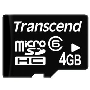Secure Digital Card Micro 4GB Transcend, SDHC Class 6, Bulk, TS4GUSDC6 (снимка 1)