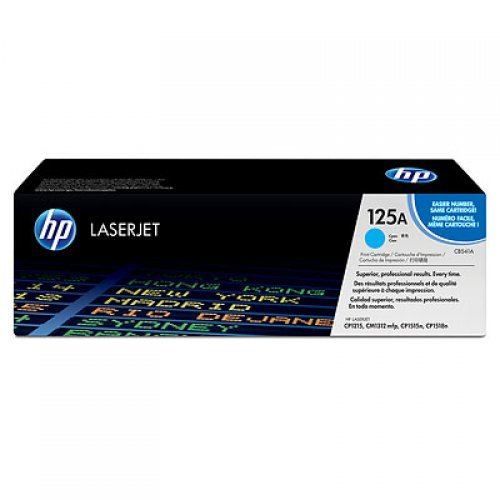 HP Color LaserJet CB541A Cyan Print Cartridge with ColorSphere Toner (CP1215, CP1515N) 1400pages (снимка 1)