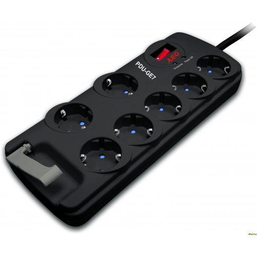 AEG Protect Basic.GE7, PDU-GE7, 7 outlets, Child safety shutters, Protection indicator, On/Off button (снимка 1)