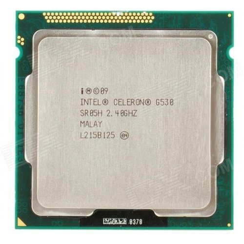 Процесор Intel Sandy Bridge Celeron G530, 2.40GHz, 2MB Smart Cache, LGA1155, 32nm, 65W, GPU- HD Gen 6(Sandy Bridge), Tray, без охладител в пакета (снимка 1)