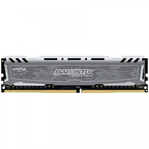 RAM памет DDR4 16GB 2400MHz CL16 Ballistix Sport LT Gray Crucial (снимка 1)