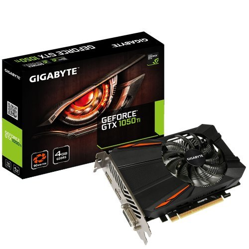Видео карта nVidia Gigabyte GV-N105TD5-4GD, GTX 1050 Ti D5 4GB GDDR5, 128 bit, Dual-link DVI-D, HDMI 2.0b, DisplayPort DP 1.4 (снимка 1)