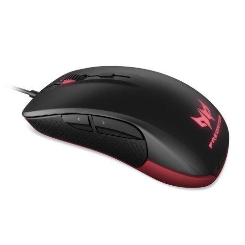 Мишка Acer Predator Optical Gaming Mouse, 6500 dpi, 6 buttons, USB, Black (снимка 1)