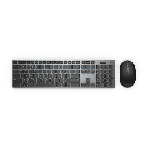 Комплект клавиатура с мишка Dell Premier Wireless Keyboard and Mouse, KM717, US International (QWERTY), Slim Membrane keys, Multimedia keys, Optical Mouse (снимка 1)