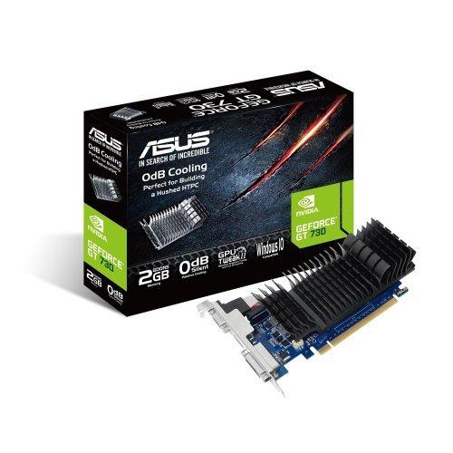 Видео карта nVidia Asus GT730-SL-2GD5-BRK, GT 730, 2GB GDDR5, 64 bit, PCI-E 2.0, D-Sub, DVI-D, HDMI (снимка 1)