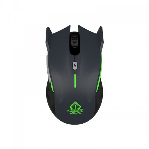 Мишка Keep Out XPoseidong, Laser Gaming Mouse, 4000dpi, AVAGO 3050 sensor, Polling Rate: 500 Hz, 2500 fps, OMRON switches, 6 programnmble buttons, 1.6m USB cable, Grey (снимка 1)