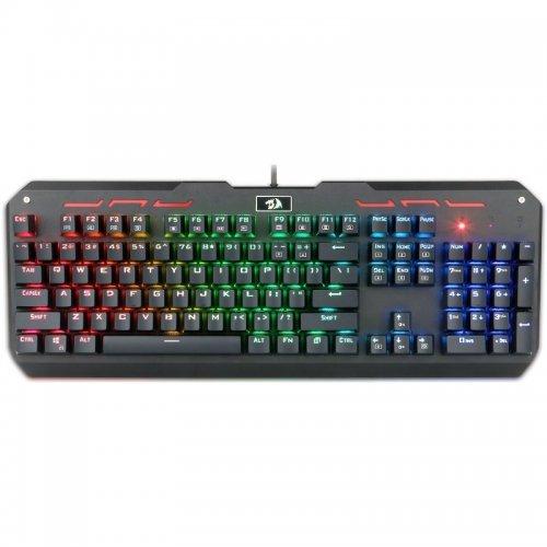 Клавиатура Redragon Varuna RGB, Mechanical Gaming Keyboard, RGB LED backlit, 104 keys, 12 multimedia keys, Anti-ghosting, Golden plated USB (снимка 1)