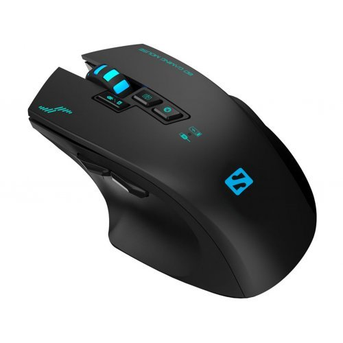Мишка Sandberg SNB-640-05 Sniper, Wireless Optical Gaming Mouse, 2400 dpi, 3-color LED lights, 8 buttons, Rechargeable 1200 mAh lithium battery, USB (снимка 1)