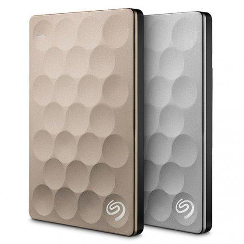 """Външен твърд диск Seagate Backup Plus Ultra Slim, 1TB, 2.5"""", USB3.0, Gold (снимка 1)"""