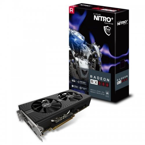 Видео карта Ati Sapphire Nitro+ RX 580, 8GB GDDR5, 256 bit, PCI-E 3.0, DVI-D, 2x HDMI, 2x DisplayPort, with Backplate, (UEFI), 11265-01-20G (снимка 1)