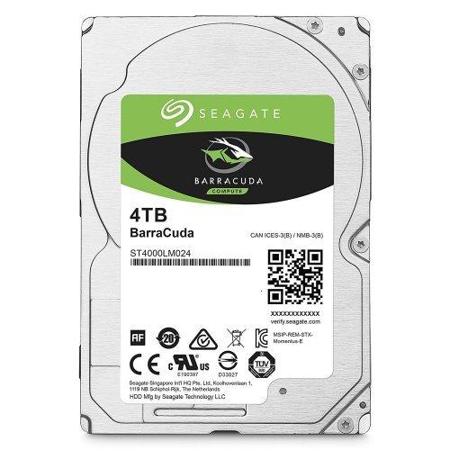 """Твърд диск Seagate 4TB, BarraCuda ST4000LM024, SATA, 128MB, 5400rpm, 2.5"""" 15mm (снимка 1)"""