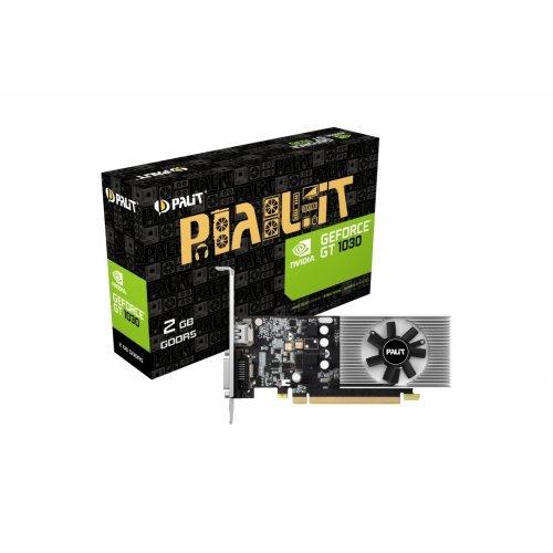 Видео карта nVidia Palit GT 1030, 2GB GDDR5, 64 bit, PCI-E 3.0 x4, DVI-D, HDMI, part# NE5103000646F (снимка 1)