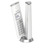 Panasonic KX-TGK210EXW, DECT, 1.5'' LCD, Caller ID, Trasnfer call, illuminated keboard, 50 contacts address book, ECO mode, White (Безжични телефони)