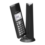 Panasonic KX-TGK210EXB, DECT, 1.5'' LCD, Caller ID, Trasnfer call, illuminated keboard, 50 contacts address book, ECO mode, Black (Безжични телефони)