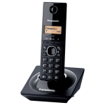 Panasonic KX-TG1711, DECT, Caller ID, Speed dial, 50 contacts address book, Black (Безжични телефони)