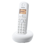 "Panasonic KX-TGB210FXW, DECT, 1.4"" Monochrome display, illuminated keyboard, Caller ID, 50 contacts address book, White (Безжични телефони)"