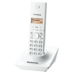 Panasonic KX-TG1711, DECT, Caller ID, Speed dial, 50 contacts address book, White (Безжични телефони)