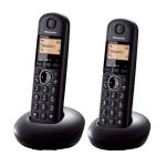 "Panasonic KX-TGB212FXB, DECT, 1.6"" monochrome display, Caller ID, Trasnfer call, 50 contacts address book, ECO mode (Безжични телефони)"
