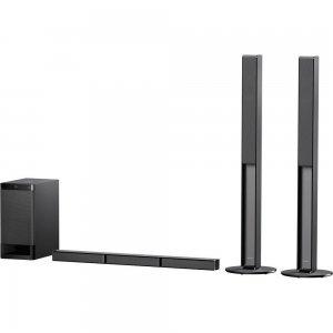 Тонколони за компютър Sony HT-RT4, 600W 5.1 Soundbar for TV with Bluetooth and NFC, Black (снимка 1)