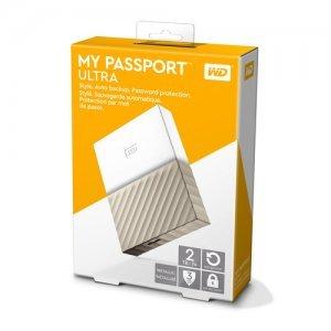 """Външен твърд диск Western Digital My Passport Ultra 2TB, 2.5"""", USB3.0, Gold (снимка 2)"""