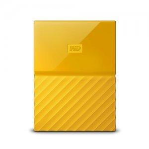 """Външен твърд диск Western Digital My Passport 2TB, 2.5"""", USB3.0, Yellow (снимка 1)"""