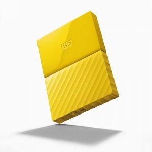 """Външен твърд диск Western Digital My Passport 2TB, 2.5"""", USB3.0, Yellow (снимка 2)"""