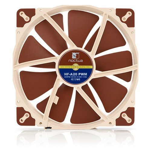 Въздушно охлаждане на процесор Noctua NF-A20-PWM 800rpm PWM, Fan 200x200x30mm (снимка 1)