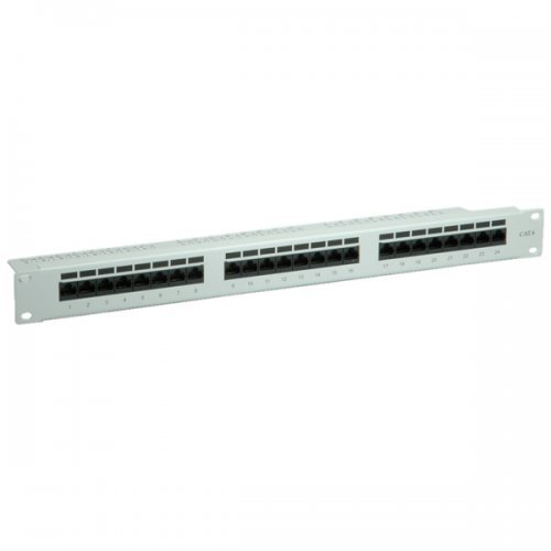 Пач панел Roline 26.99.0355, Value Cat.6, 24-port, UTP, Gray (снимка 1)