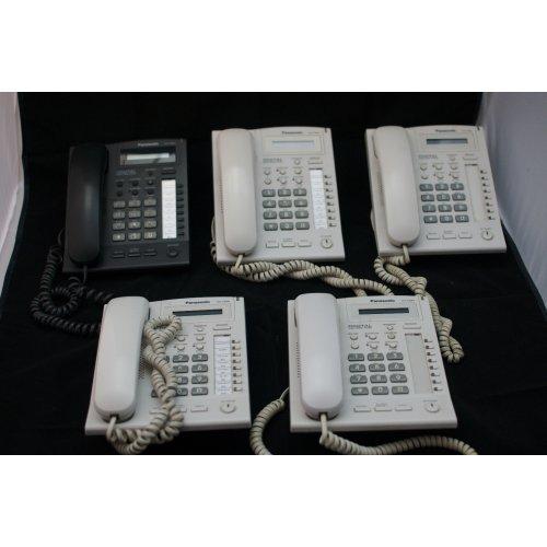 Телефонна централа Panasonic за малък офис, комплект с 5+1 телефонни апарати - Втора употреба (снимка 1)