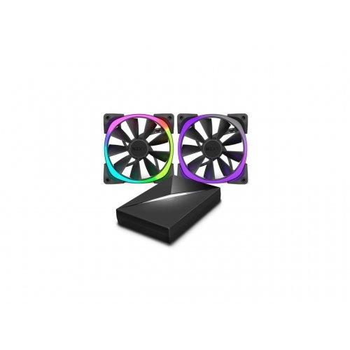 Въздушно охлаждане на процесор NZXT Bundle pack 2x Aer RGB140 Fans with HUE+ Controller (снимка 1)