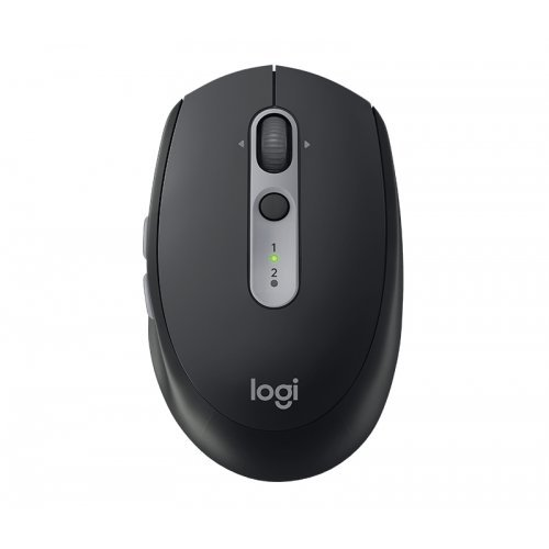 Мишка Logitech Wireless Optical Mouse M590 Multi-Device Silent, Bluetooth Smart and 2.4GHz wireless connection, 1000 dpi, 7 buttons, Gesture Support, Graphite tonal (снимка 1)