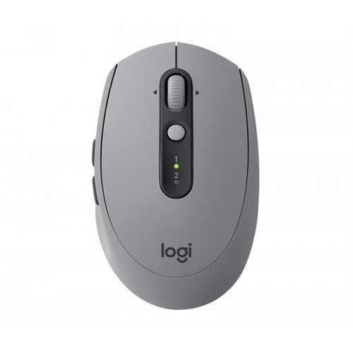 Мишка Logitech Wireless Optical Mouse M590 Multi-Device Silent, Bluetooth Smart and 2.4GHz wireless connection, 1000 dpi, 7 buttons, Gesture Support, Mid Grey tonal (снимка 1)