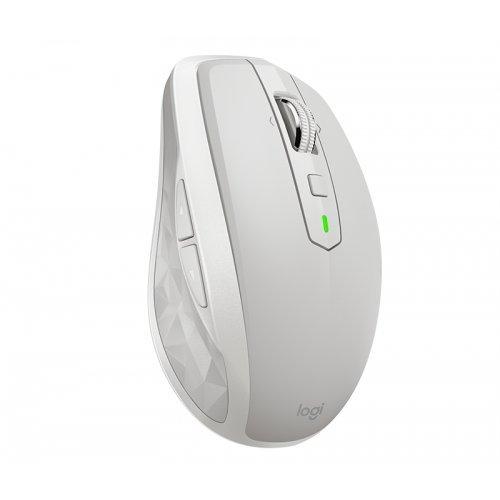 Мишка Logitech MX Anywhere 2S, Bluetooth Mouse, Darkfield high precision sensor, 200 to 4000 dpi, rechargeable Li-Po (500 mAh) battery, Unifying USB receiver, EMEA, Light Grey (снимка 1)