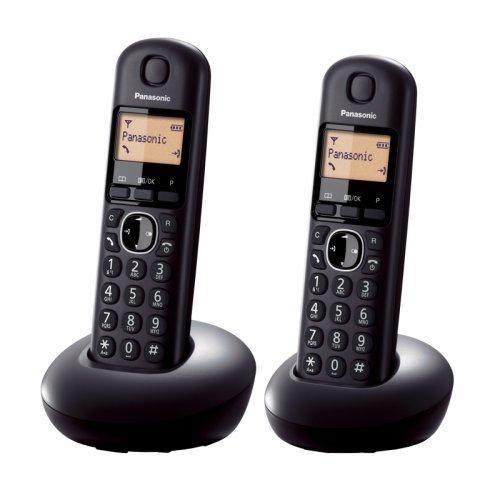 "Panasonic KX-TGB212FXB, DECT, 1.6"" monochrome display, Caller ID, Trasnfer call, 50 contacts address book, ECO mode (снимка 1)"