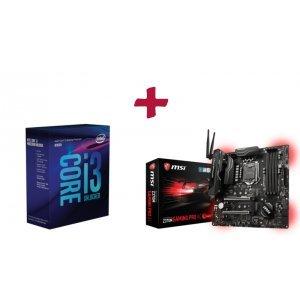 Дънна платка MSI Z370M Gaming Pro AC, Micro ATX, Intel Z370, LGA1151 + Intel Coffee Lake Core i3-8350K, LGA1151, Box (No Fan) (снимка 1)