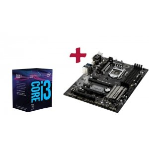 Дънна платка ASRock Z370 Pro4, LGA1151 + Intel Coffee Lake Core i3-8100, LGA1151 (снимка 1)