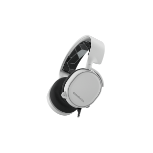 Слушалки SteelSeries Arctis 3 White 7.1, Gaming Headset, 20-20000 Hz, 98 dB, 32 Ohm, 40mm drivers, 3m. cable with 3.5mm jack (снимка 1)