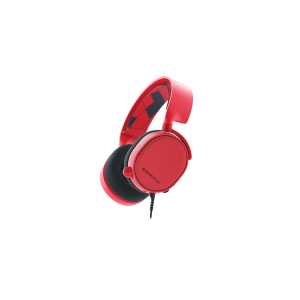 Слушалки SteelSeries Arctis 3 Red, 7.1 Gaming Headset, 20-20000 Hz, 98 dB, 32 Ohm, 40mm drivers, 3m. cable with 3.5mm jack (снимка 1)